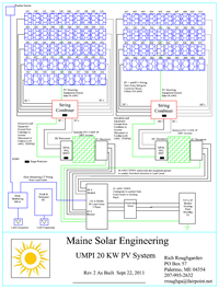 Photovoltaic Drawing by Maine Solar Engineering