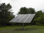 Solar Electric Photovoltaic Panels Installed by Maine Solar Engineering.